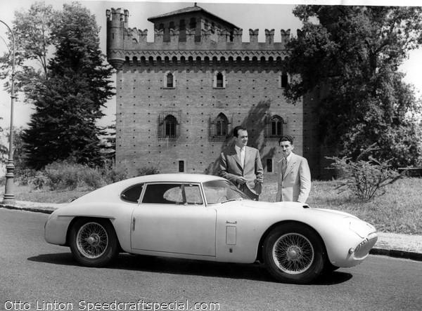 Renato Ambrosini President of Siata presents CS060 to Otto Linton August 1952