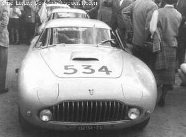Siata 208CS (#CS055) with its two sister cars at the 1952 Mille Miglia