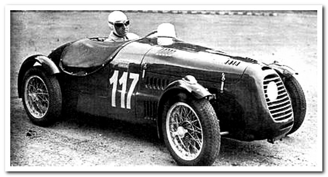 Renato Ambrosini in the Siata Tipo di Concorso 1948