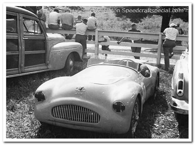 Otto Linton with the Siata Prototype at Brynfan Tyddyn 1952