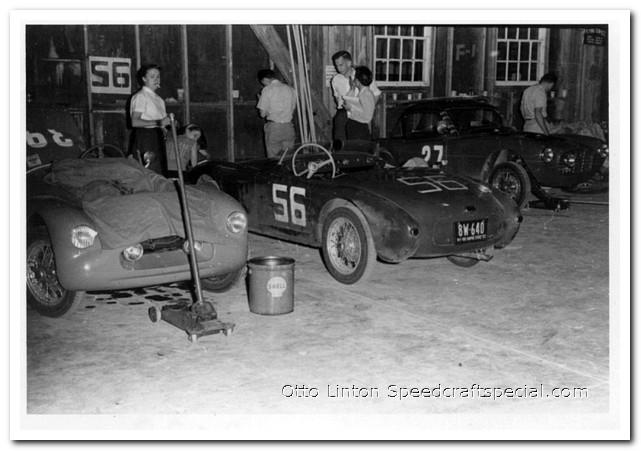 Otto Linton in the Siata Prototype at Sebring 1953